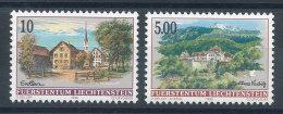 Liechtenstein N°1068 Et 1069** Eschen Et Château De Vaduz - Liechtenstein