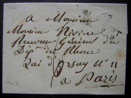 1826 Clermont Ferrand Marque Noire Sur Une Lettre Pour Paris (LSC) - Marcophilie (Lettres)