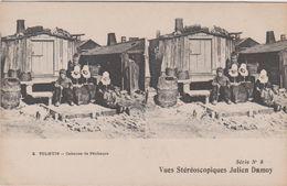 Belgique Tolhuis  Vues Stereoscopiques Julien Damoy Cabanes De Pecheurs - Belgique