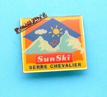 Pin's Station De Ski De SERRE CHEVALIER, HAUTES ALPES - Rallye