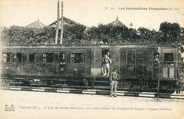 Les Locomotives Francaises PO 32 Tracteur AE4 3eme Type De Tracteur Electrique Avec Compartiment De Voyageurs - Treinen