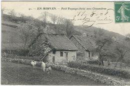 Saone Et Loire : En Morvan, Petit Paysage Choisi Avec Chaumières... A Situer... - France