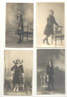 Lot De 4 Photos Cartes - Fillette, Mode, Chapeau,... - Mode