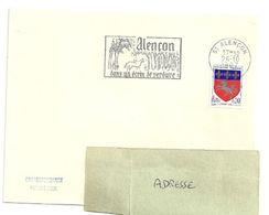 ORNE - Dépt N° 61 = ALENÇON  1967 = FLAMME SUPERBE = SECAP Illustrée 'dans Un écrin De Verdure + DENTELLE' - Postmark Collection (Covers)