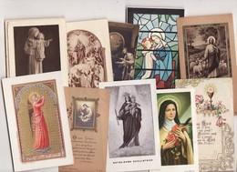 --2155) LOTS DE 10 IMAGES PIEUSES Anciennes (Très Très Bon état) - Religion & Esotérisme