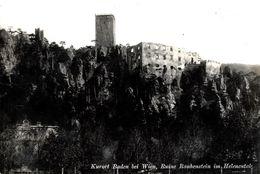 Baden Bei Wien. Ruine Rauhenstein Im Helenental. - Baden Bei Wien