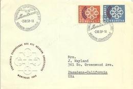 Schweiz - SUISSE 1959: CONFÉRENCE EUROPÉENNE DES PTT: Zu 349-350 Mi 681-682 Yv 632-633 O MONTREUX 2.VII.59 - Poste
