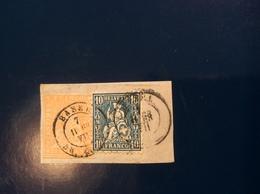"""""""BASEL 1863"""" Strubel + Sitzende Helvetia Gute MISCHFRANKATUR Auf Briefstück ZNr 25G + 31 (Suisse Schweiz - 1854-1862 Helvetia (Ungezähnt)"""