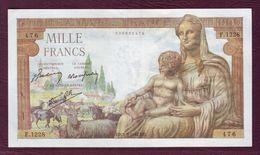FRANCE - 1000 FRANCS Déesse Déméter Type 1942 - 03/09/1942- F.40/6 - 1871-1952 Anciens Francs Circulés Au XXème