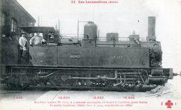 Les Locomotives Francaises 22 Nord Machine Tender N°3017 Pour Trains De Petite Banlieue - Trains