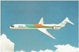 Postkarte ALM - Antillan Airlines / McDonnell Douglas MD-80 (Airline Issue) - 1946-....: Moderne