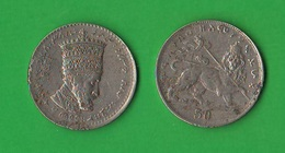 Etiopia Ethiopia Abissinia Hailé Selassié I° Kingdom 50 Matonas - Ethiopia