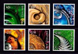 New Zealand 2001 Art From Nature Set Of 6 MNH - New Zealand