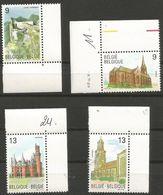 Belgium - 1989 Castles & Churches MNH **    Sc 1317-20 - Belgium