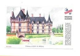 Buvard  Ville, Marque  Alimentaire  Biscottes  GREGOIRE  Château  D' AZAY - LE - RIDEAU  ( 37 ) - Collections, Lots & Séries
