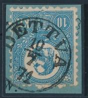 1871 Kőnyomat 10kr Szép 'DETTVA' Certificate: Briefmarken Prüfstelle Basel - Stamps