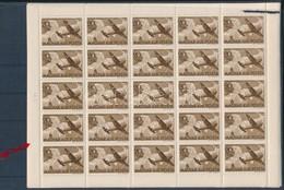 ** 1942 Repülő Alap (III.) Sor 25-ös Teljes ívekben, A 20f ívben Az Ismert Lemezhibával (20.000) - Stamps