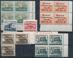 ** 1956 21 Db Sopron Bélyeg összefüggésekben, ívszéli Kettős Fogazással Is - Stamps