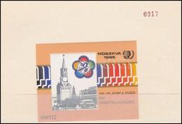** 1985 VIT Ajándék Blokk Sorsz. 000917 Sorszámozott Blokktartóban (20.000)  / Mi Block 178 Present Of The Post, In Numb - Stamps