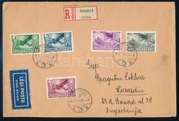 1937 Ajánlott Légi Levél 9,40P Bérmentesítéssel, érkezési Bélyegzéssel, 2 Levélzáróval.  / Registered Airmail Cover With - Stamps