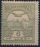 * 1906 Turul 6f Hiányzó 'i' Betű, Enyhe Falcnyom, Használatlanul Nagyon Ritka (20.000) - Stamps