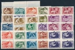 ** 1955 Munka; Vízjelre átnézetlen Négyestömb Sor (min. 28.000) - Stamps