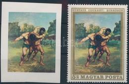 ** 1969 Festmények VI. 5Ft Arany Keret Nélkül, A Szakirodalomban Ismeretlen + Támpéldány - Stamps