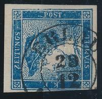 O 1851 Hírlapbélyeg IIc Típusú élénk Kék 'ERLAU' Meghatározás és Szignó Strakosch - Stamps