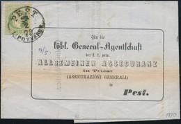1870 3kr Helyi Levélen 'PEST LIPÓTVÁROS' - Stamps