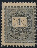 ** 1898 1kr 11 1/2 Fogazással, Falcnyom R! - Stamps