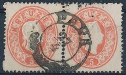 O 1861 5kr Pár, Kimaradt Foglyukak 'PÁPA' - Stamps