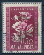 O 1950 Virág 30f A Piros, Zöld Színek 1 Cm-rel Eltolódtak - Stamps