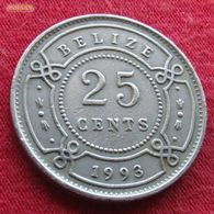 Belize 25 Cents 1993 KM# 36 Beliz Belice - Belize