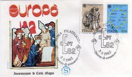 Italia 1982 FDC EUROPA CEPT Incoronazione Di Carlo Magno E Trattati Di Roma - 1982