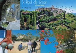 CPM GRAND FORMAT 1 - ALPES MARITIMES - SAINT PAUL DE VENCE - MULTIVUES - PETANQUE - BOULES - Saint-Paul
