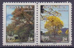 COSTA RICA :1990: Y.538-39 Dentelled/neufs/MNH :  ## Series America-U.P.A.E. ## : FLORA,TREE, - Costa Rica