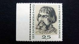 Deutschland BRD 718 Yt 569 **/mnh, L. Cranach D. Ä. (1472-1553), Maler Und Zeichner; Zeichnung Von Albrecht Dürer - [7] République Fédérale