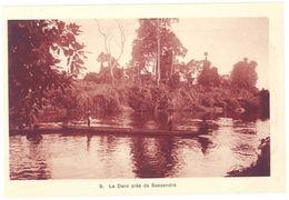 12 Cpa Côte D'Ivoire : Le Davo De Sassandra, Flottage Bois, Acajou, Cueillette, ... - Côte-d'Ivoire