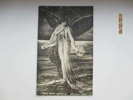 IMP. RUSSIA ,  BEAUTIFUL  WOMAN ANGEL  IN SEA    , OLD POSTCARD   , O - Peintures & Tableaux