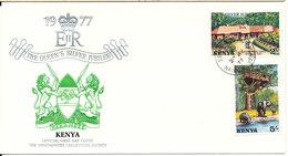 Kenya FDC 20-7-1977 Queen Elizabeth Silver Jubilee With Cachet - Kenia (1963-...)