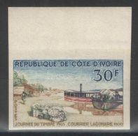 Côte-d'Ivoire - YT 234 Non Dentelé ** - 1965 - Journée Du Timbre - Poste Lagunaire En 1900 - Côte D'Ivoire (1960-...)