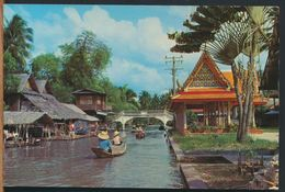 °°° 10602 - THAILAND - BEAUTIFUL VIEW OF KLONG (CANAL) IN BANGKOK - With Stamps °°° - Tailandia