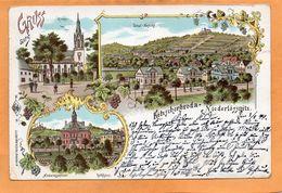 Gruss Aus  Kotzschenbroda Niederlossnitz Germany 1899 Postcard - Nossen