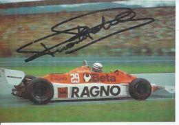 RICCARDO PATRESE - SU CERAMICHE RAGNO-ARROWS  -  Signé Par RICCARDO PATRESE  ( Dédicacée ) - Sport Automobile