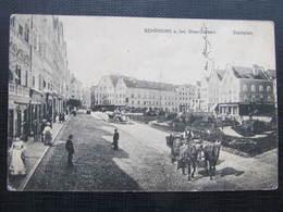 AK SCHÄRDING Stadtplatz Pferde 1914 //  D*30035 - Schärding