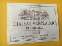 6895 -  Château Monplaisir 1988 - Bordeaux