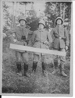 Russie Officiers Allemands Avec Stalheim, Jumelles Et Pistolet P08 1 Carte Photo Ww1 1914-1918 1wk - War, Military