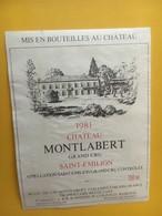 6896 -  Château Montlabert 1981 Saint-Emilion - Bordeaux