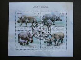 Rhinoceros. Nashörner  # Togo # 2013 Used S/s # Rhino Mammals - Rhinozerosse