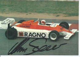 MARC SURER - CERAMICHE RAGNO F.1 RACING  -  Signé Par MARC SURER  ( Dédicacée ) - Sport Automobile